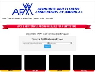 certification.afaa.com screenshot
