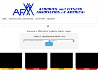 certifications.afaa.com screenshot