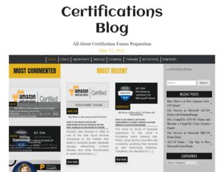 certificationsblog.net screenshot
