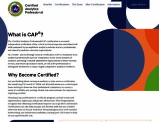certifiedanalytics.org screenshot