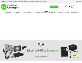 certifiedcartridges.com screenshot