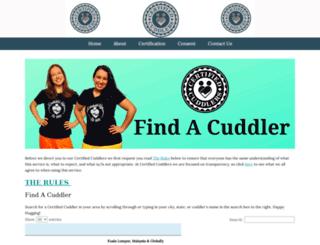 certifiedcuddlers.com screenshot