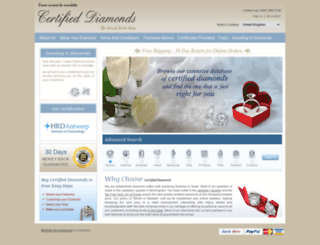 certifieddiamond.biz screenshot