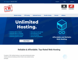 certifiedhosting.com screenshot