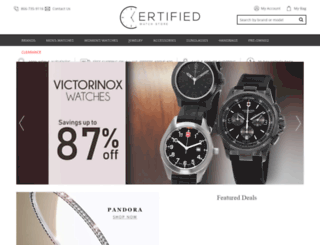 certifiedwatchstore.com screenshot