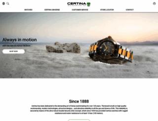 certina.com screenshot