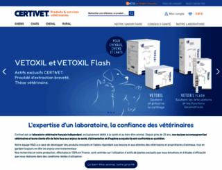 certivet.fr screenshot