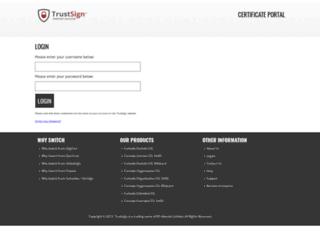 certportal.trustsign.co.uk screenshot