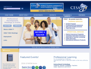 cesa7.k12.wi.us screenshot