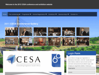 cesaconference.co.za screenshot