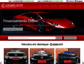 cesarleiteautomoveis.com.br screenshot