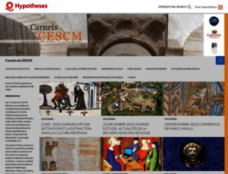 cescm.hypotheses.org screenshot