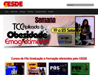 cesde.com.br screenshot