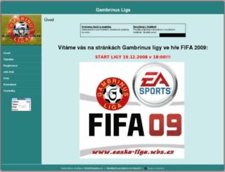 ceska-liga.wbs.cz screenshot