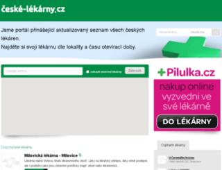 ceske-lekarny.cz screenshot