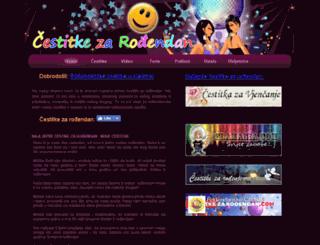 cestitka-za-rodendan.com.hr screenshot