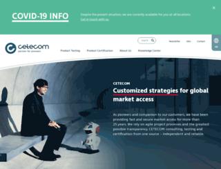 cetecom.es screenshot