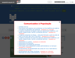 cetesb.sp.gov.br screenshot