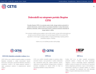 cetis.si screenshot