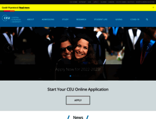 ceu.edu screenshot