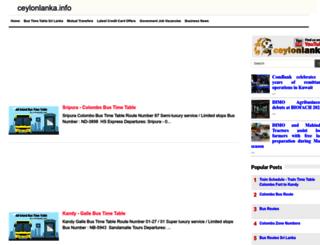 ceylonlanka.info screenshot