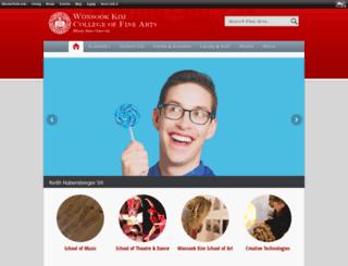 cfa.ilstu.edu screenshot