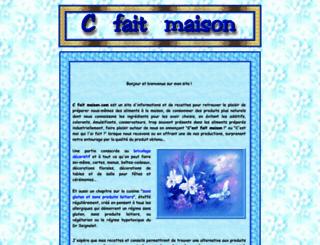 cfaitmaison.com screenshot
