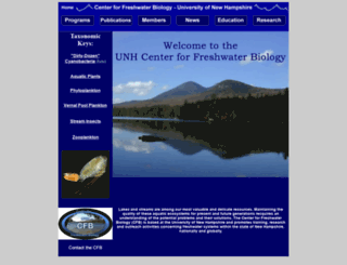 cfb.unh.edu screenshot