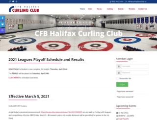 cfbhalifaxcurling.com screenshot