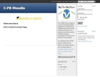 cfbisd.remote-learner.net screenshot