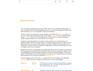 cfmwebdesign.com screenshot