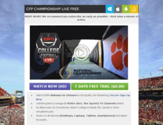 cfpchampionship.directtvlivestream.com screenshot