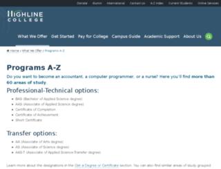cg.highline.edu screenshot