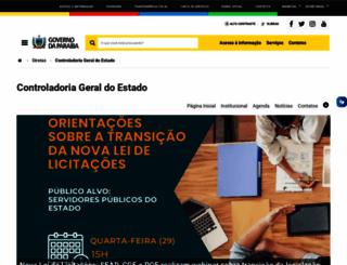 cge.pb.gov.br screenshot