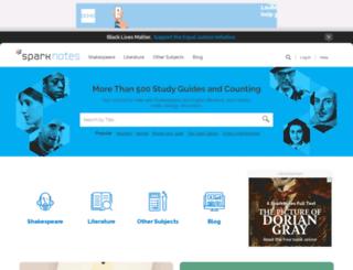 cgi.sparknotes.com screenshot