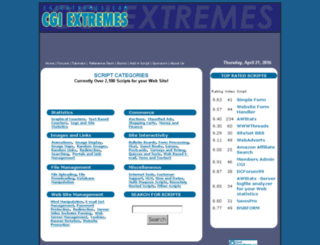 cgiextremes.com screenshot