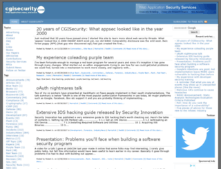 cgisecurity.com screenshot