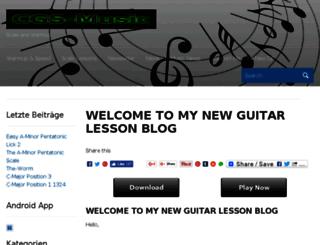 cgs-guitars.de screenshot
