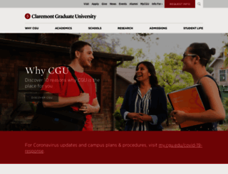 cgu.edu screenshot
