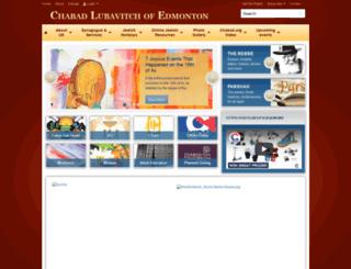 chabadedmonton.org screenshot