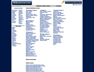 chaco.wanuncios.com screenshot