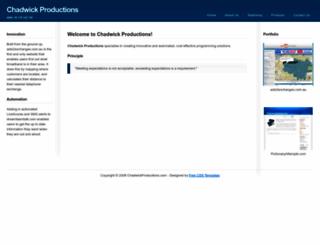 chadwickproductions.com.au screenshot