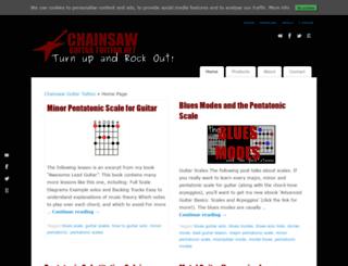 chainsawguitartuition.net screenshot