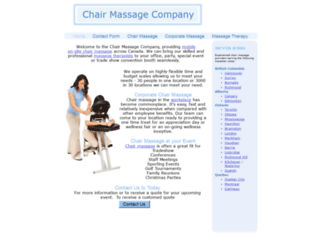 chairmassagecompany.ca screenshot