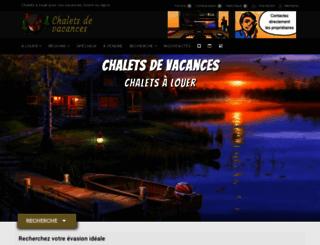 chaletsdevacances.com screenshot