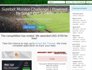 challenge.smartbettracker.com screenshot