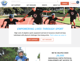 challengedathletes.org screenshot