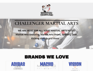 challengermartialarts.com screenshot