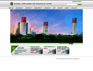 chambalfertilisers.com screenshot