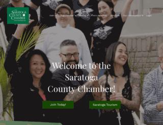 chamber.saratoga.org screenshot